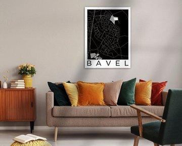 Bavel | Stadskaart in ZwartWit von Wereldkaarten.Shop