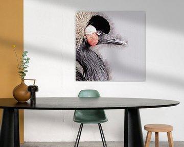 Porträt eines Kranes (Kunstwerk) von Art by Jeronimo