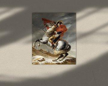 Bonaparte beim Überschreiten der Alpen am Großen Sankt Bernhard, Jacques Louis David