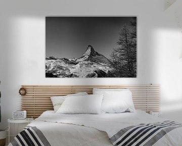 De Matterhorn op een heldere winterdag vlakbij Zermatt, in Wallis, Zwitserland van Arthur Puls Photography