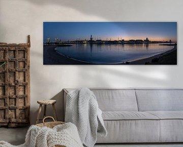 Panorama van Kampen gedurende zonsondergang van Daan Kloeg