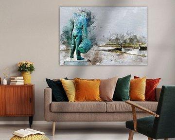 Zeg ken jij de mosselman , hij komt uit ........... Yerseke (kunstwerk) van Art by Jeronimo