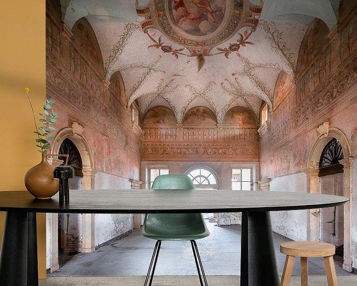 Beispiel fototapete: Fresko in verlassenem Palast. von Roman Robroek