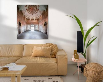 Fresco in Verlaten Paleis. van Roman Robroek