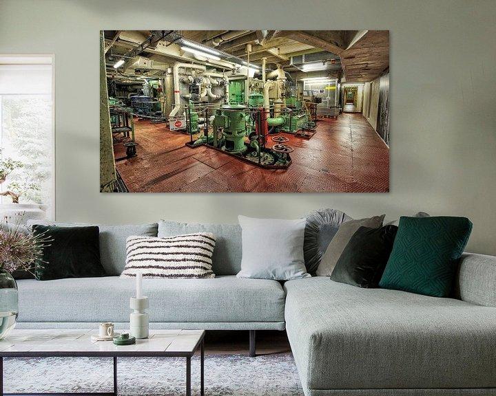 Sfeerimpressie: machinekamer van Maurice Hoogeboom