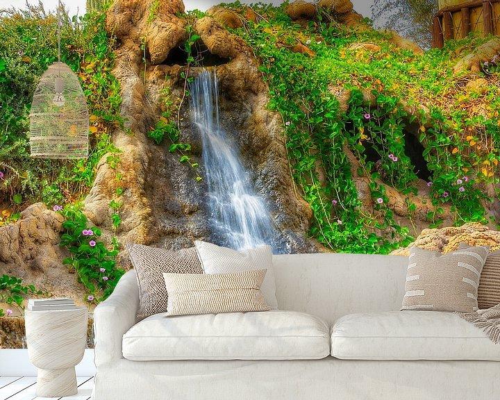 Sfeerimpressie behang: waterval van Maurice Hoogeboom