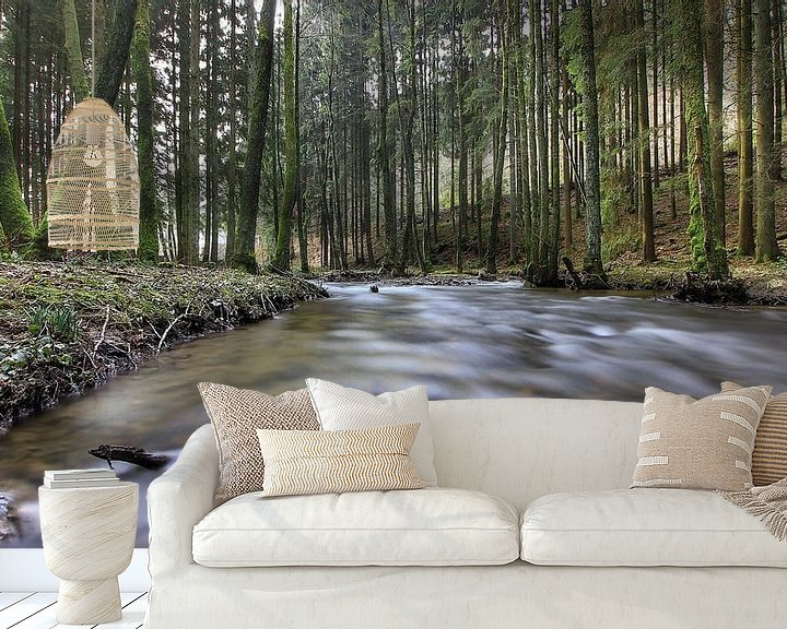 Sfeerimpressie behang: river van Maurice Hoogeboom