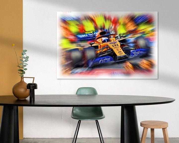 Beispiel: Carlos Sainz junior - F1 2019 von Jean-Louis Glineur alias DeVerviers