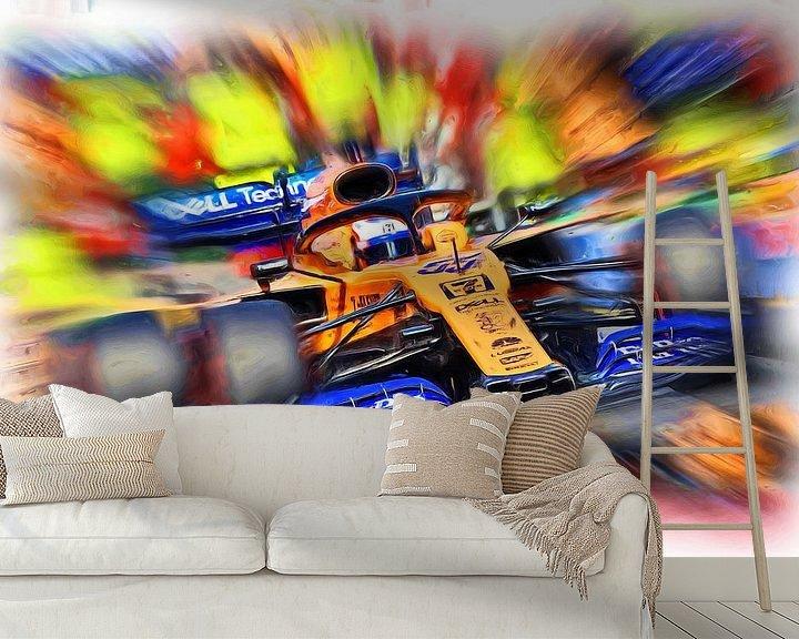 Beispiel fototapete: Carlos Sainz junior - F1 2019 von Jean-Louis Glineur alias DeVerviers