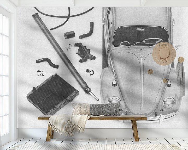 Beispiel fototapete: Vintage print kunst VW 1965 von Jaap Ros