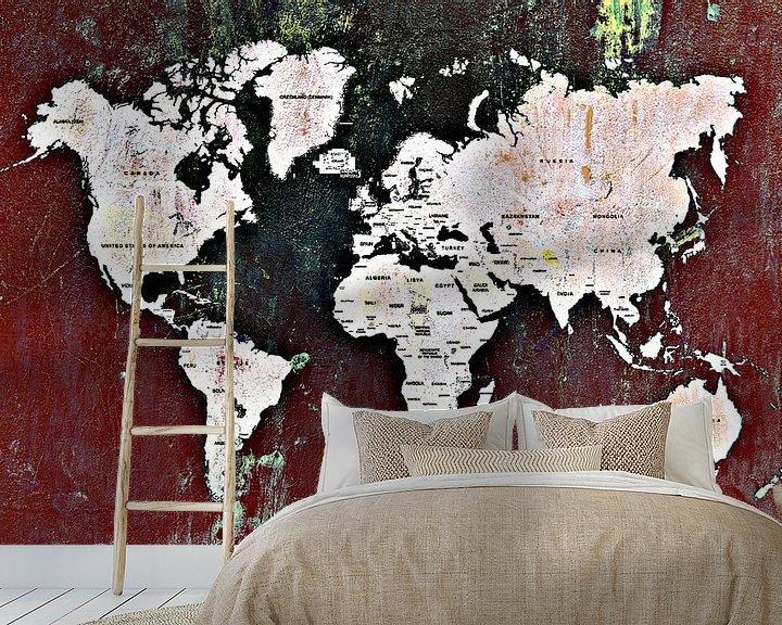 Impression: World map dark sur PictureWork - Digital artist
