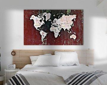 World map dark von PictureWork - Digital artist
