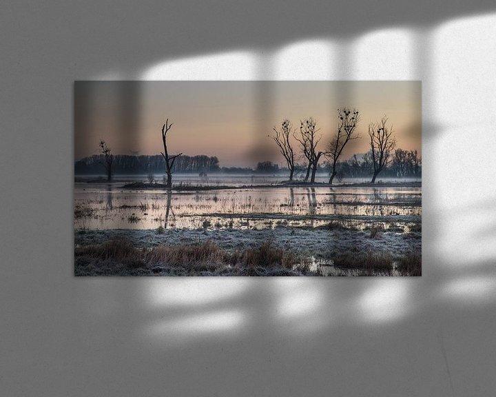 Sfeerimpressie: sunrise at Bourgoyen park van Koen Ceusters