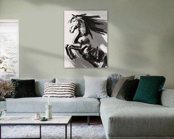 Friesisches springendes Pferd von Go van Kampen