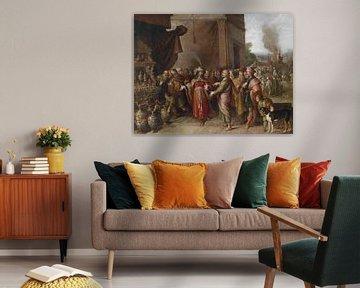 Krösus zeigt Solon seine Schätze, Frans Francken (II)