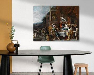 Ahasver und Haman beim Gastmahl der Esther, Frans Francken (II)