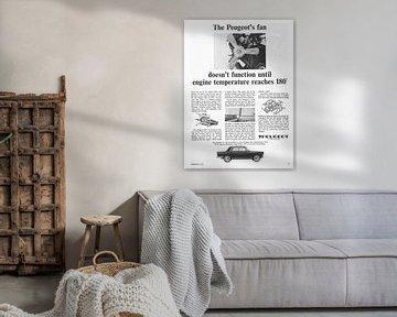 Vintage advertentie 1965 PEUGEOT van Jaap Ros