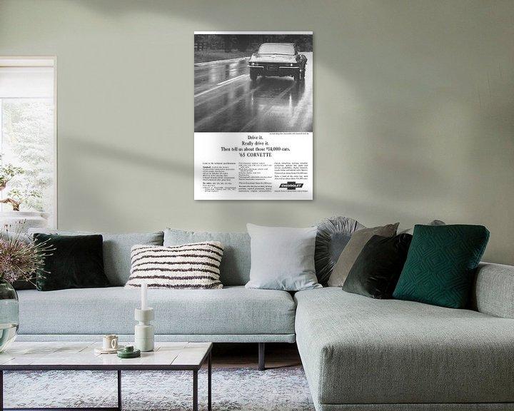 Sfeerimpressie: Vintage advertentie 1965 CORVETTE! van Jaap Ros