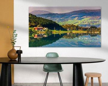Bergheimsvatnet, Gloppen, Sogn og Fjordane, Norwegen