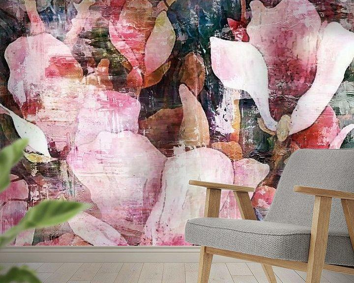 Sfeerimpressie behang: Spring Magnolia van Jacky Gerritsen
