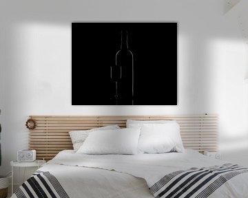 Fles en glas low-key von Tanja van Beuningen