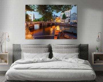 Prinsengracht in Amsterdam am Abend von Werner Dieterich