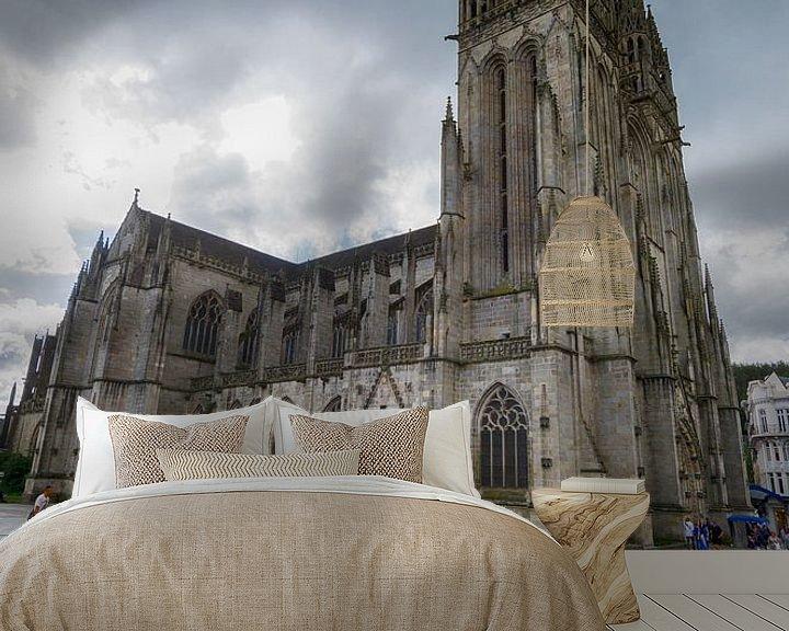 Beispiel fototapete: Kathedrale von Quimper von Mark Bolijn