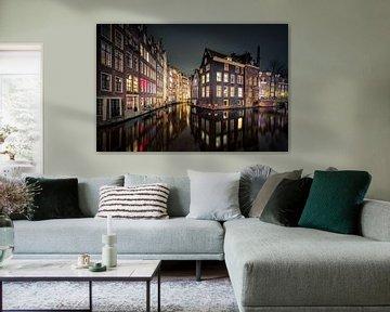 Amsterdam bij avondlicht von Jeffrey Van Zandbeek