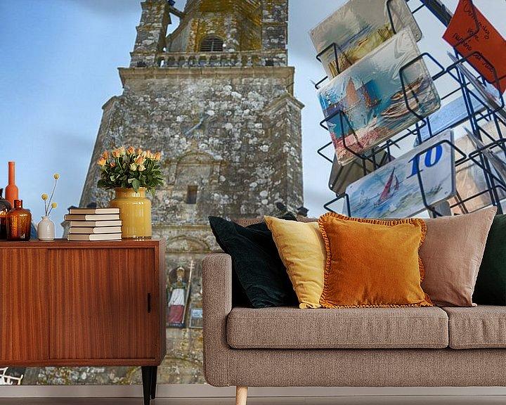 Beispiel fototapete: Kirchplatz in Carnac von Mark Bolijn