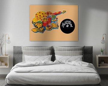 keuken illustratie van fast food producten van Ariadna de Raadt