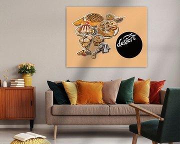 keuken illustratie van zoete producten van Ariadna de Raadt