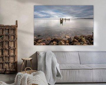 Steg am Wattenmeer auf der Insel Amrum von Rico Ködder