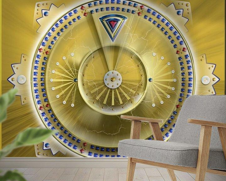 Sfeerimpressie behang: Mandala Lusea van Shirley Hoekstra