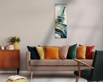Modern Art Eiffelturm | Panorama von Melanie Viola