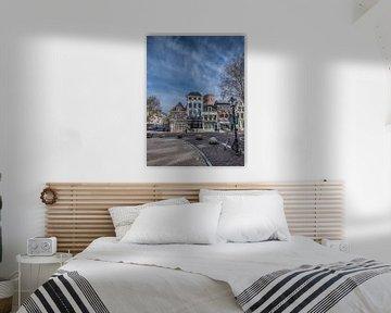 Utrechts straatbeeld met fiets en lantaarnpaal van Harrie Muis