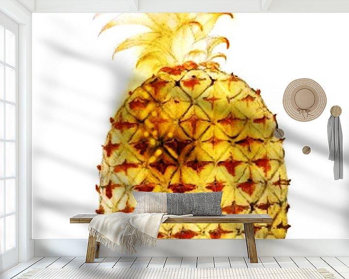 Beispiel fototapete: Goldene Ananas, John White von Studio POPPY