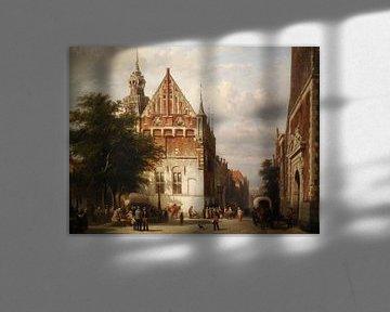 Schilderij Kampen - Stadhuis en Gerechtsgebouw Kampen - Cornelis Springer