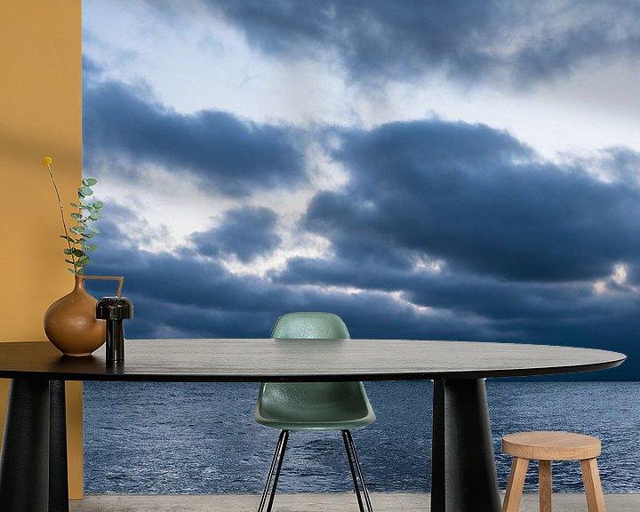 Beispiel fototapete: Wolken an der Küste der Ostsee bei Warnemünde von Rico Ködder