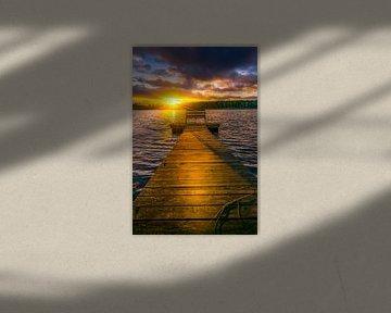 Jetty at sunset van Niklas Lorenson