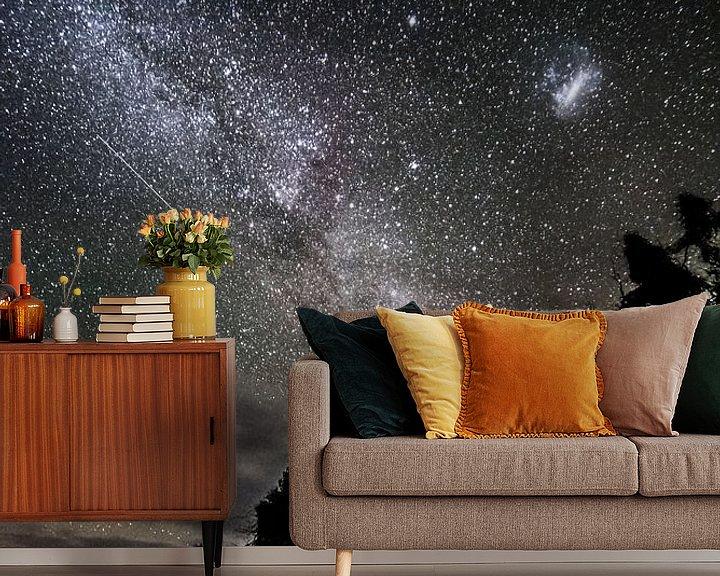 Sfeerimpressie behang: Vallende ster van Anne Loman