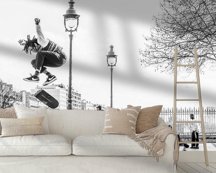 Sfeerimpressie behang: Airborne van Emil Golshani