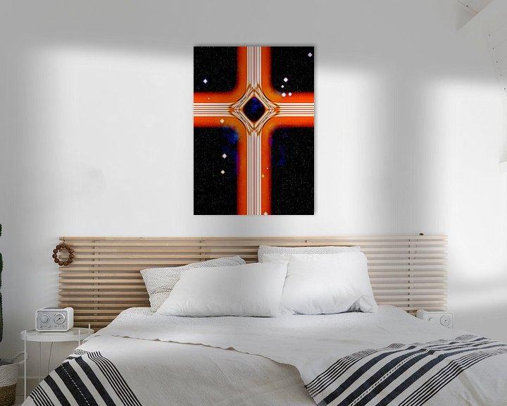 Beispiel: Energetisches Kreuz in Orange von Leopold Brix