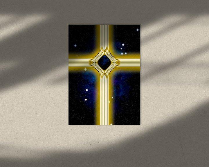 Beispiel: Energetisches Kreuz in gold von Leopold Brix