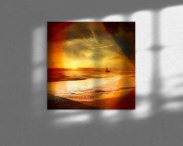 Zeilen in de zonsondergang van Andreas Wemmje