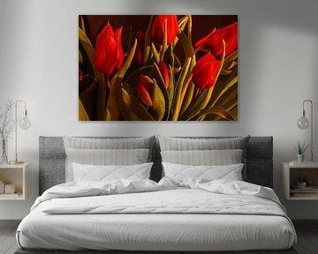 Red tulips von Michael Nägele