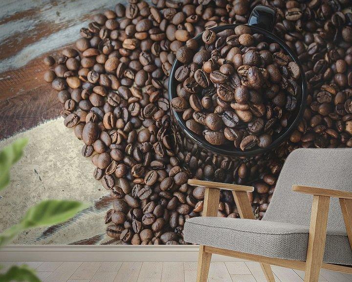 Beispiel fototapete: Kaffeebohnen von Sander Guijt