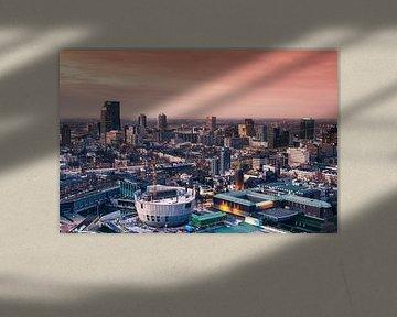 Rotterdam sunset skyline von Ilya Korzelius