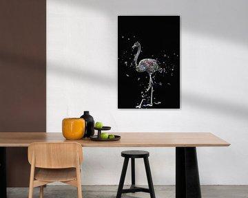 La mosaique du flamand noir von Catherine Fortin