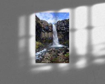 Svartifoss-Wasserfall (Island) sur Yolande Tump