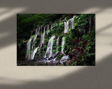 Long exposure opname van een prachtige waterval in Bali van Jesper Boot